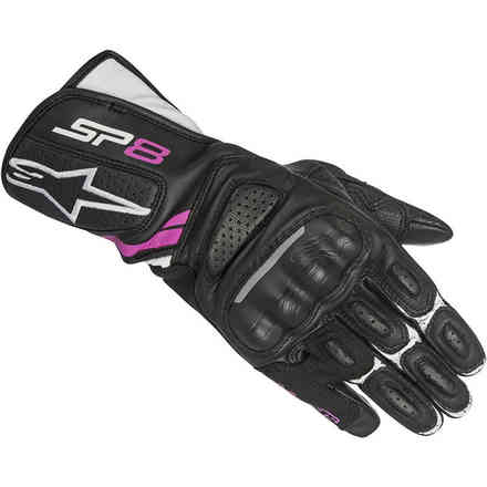Stella Sp-8 V2 black white fuchsia lady Gloves Alpinestars