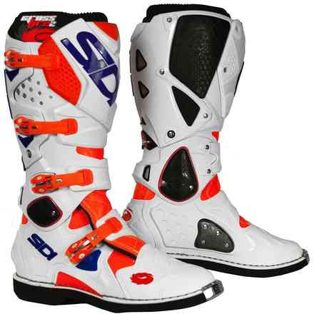 Stiefel Crossfire 2 Orange fluorescent weiss blau Sidi