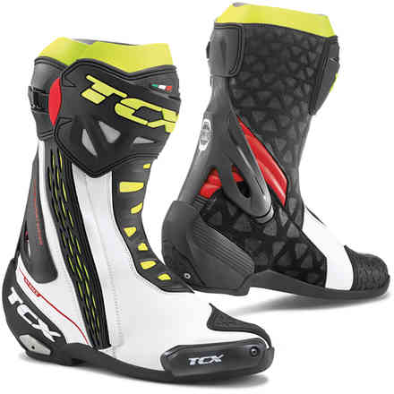 Stiefel Rt-Race Weiss Rot Gelb fluo Tcx