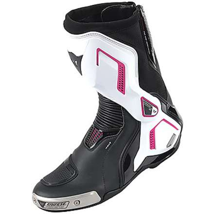 Stiefel Torque D1 out Dame Schwarz-Weiss-Fucsia Dainese