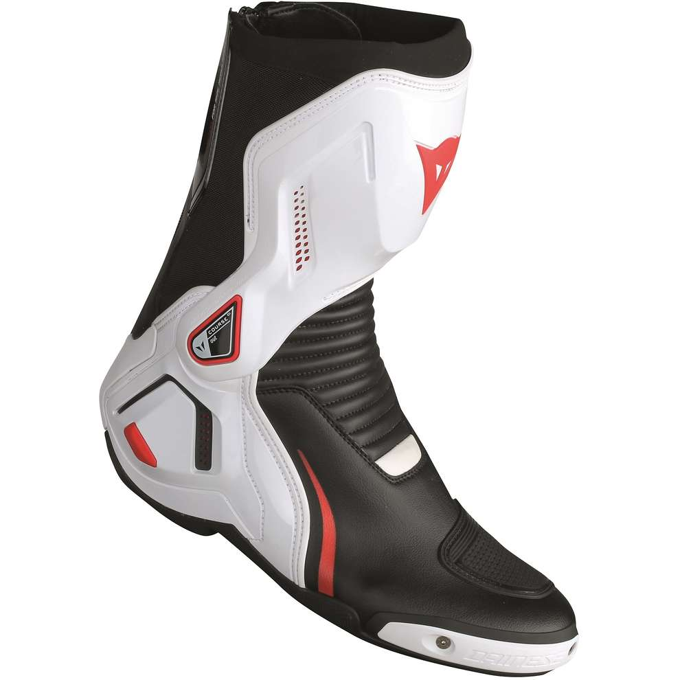 Stivali Course D1 out nero bianco rosso Dainese