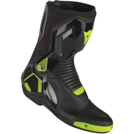 Stivali Course D1 out nero giallo fluo Dainese