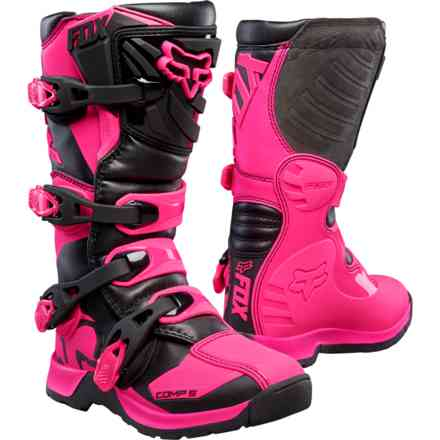 Stivali Fox Racing Comp 5y Nero-Rosa Fox