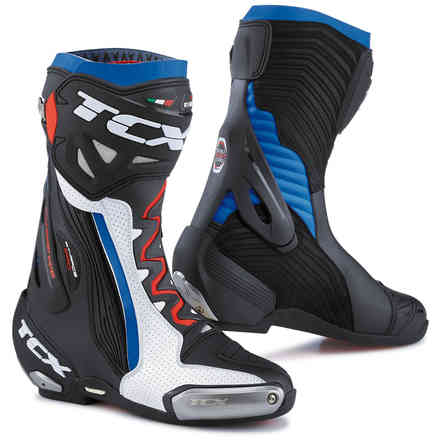 Stivali Tcx RT-Race Pro Air Bianco-Nero-Blu Tcx