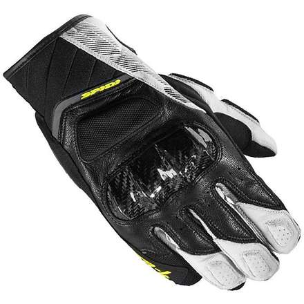 Str-4 Coupé Gloves Black-White-Yellow Spidi