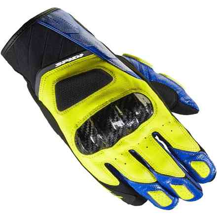 Str-4 Coupe' blue yellow Gloves Spidi