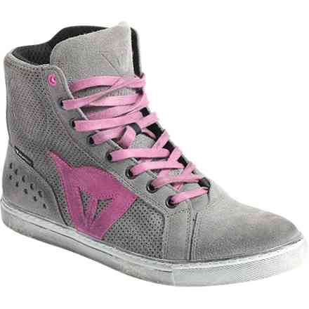 Street biker Air shoes grey-pink  lady Dainese