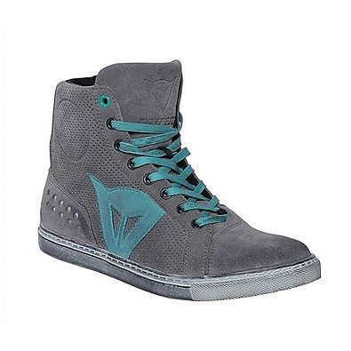 Street biker Air shoes lady gray-aquamarine Dainese