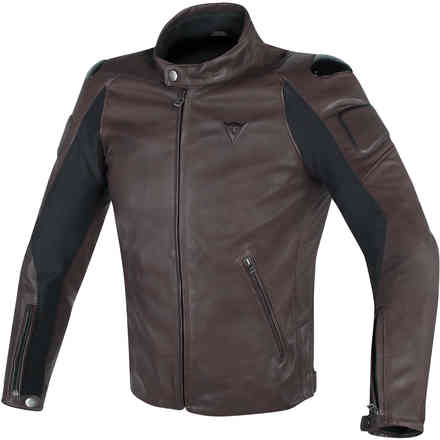 Street Darker leather jacket dark brown Dainese