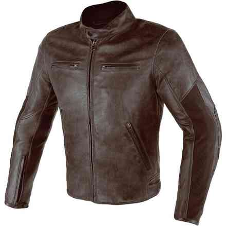 Stripes D1 jacket dark brown perforated Dainese
