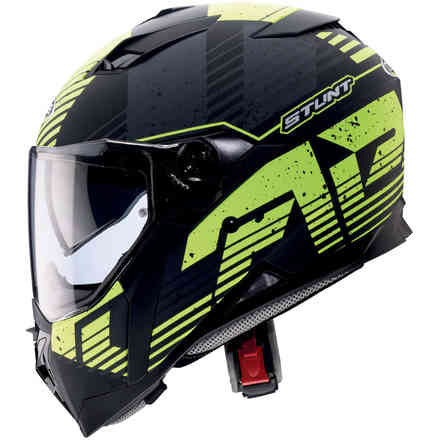 Stunt Blizzard helmet matt black yellow fluo Caberg