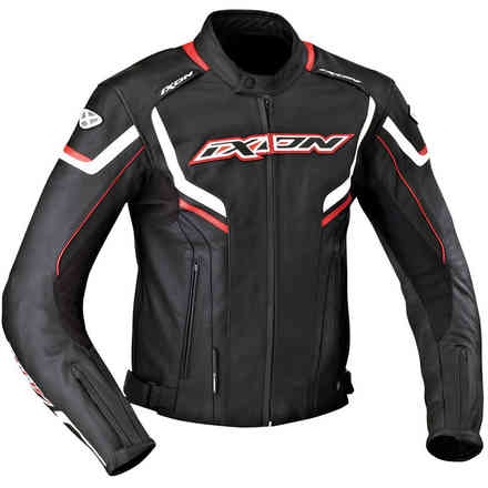 Stunter jacket black white red Ixon