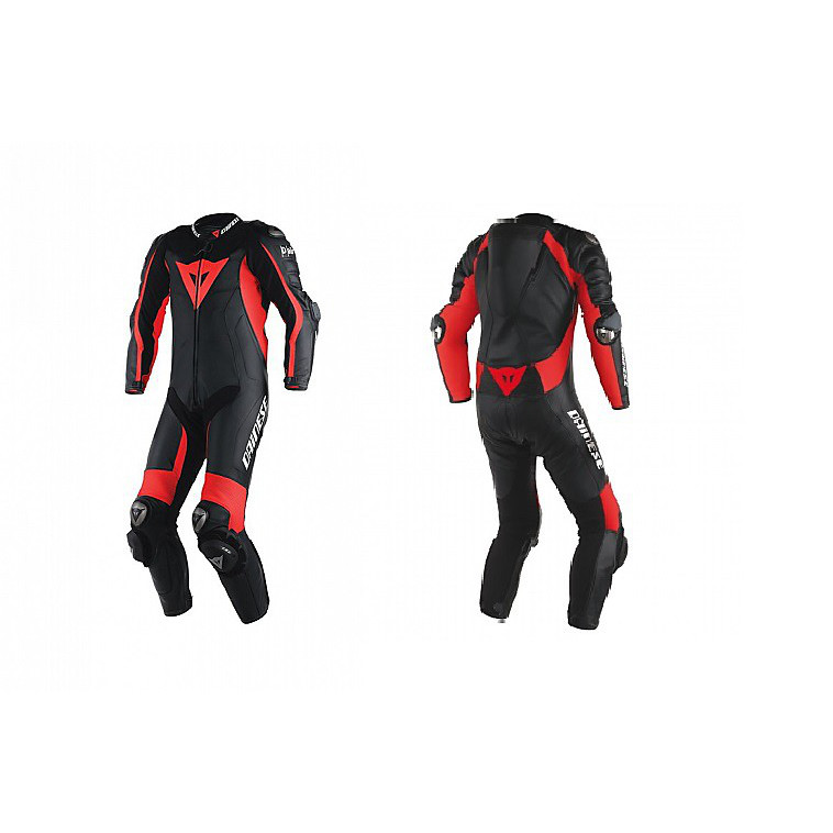 Suit D-Air Racing Misano perforated black-black-red Dainese