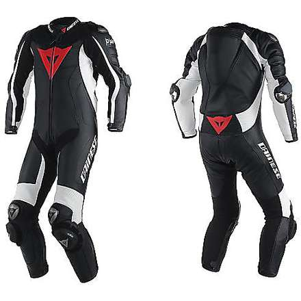Suit D-Air Racing Misano perforated black-black-white Dainese
