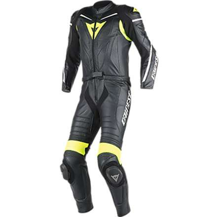 Suit Laguna Seca D1 2 pieces black-yellow fluo Dainese
