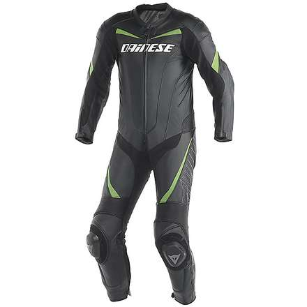 SUMMER TRAINING SUIT RACING BLACK- GREEN KAWA Dainese