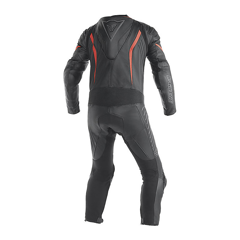 SUMMER TRAINING SUIT RACING BLACK-RED NEON Dainese
