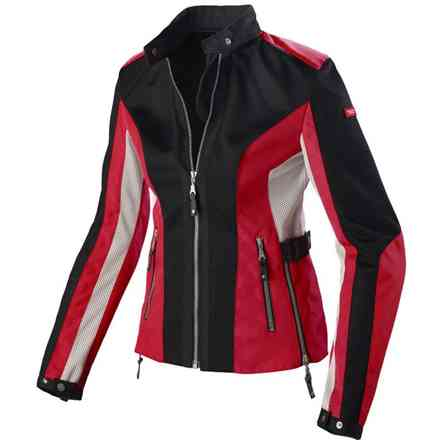 Summernet Lady Jacket black red Spidi