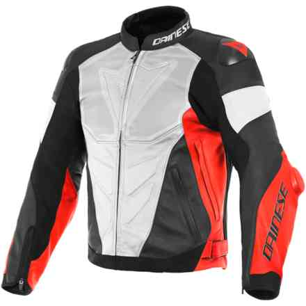 Super Race Perforated white red fluo black matt Dainese