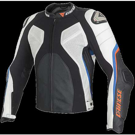 Super Rider jacket black-white-light blue Dainese