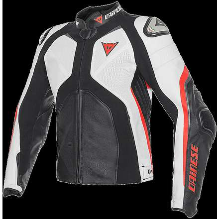 Super Rider jacket black-white-red fluo Dainese