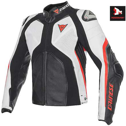 Super Rider Jacket summern black-white- fluo red Dainese