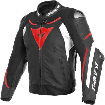 Super Speed 3 jacket black white red Dainese