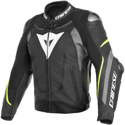 Super Speed 3 Perforated jacket black gray yellow fluo Dainese