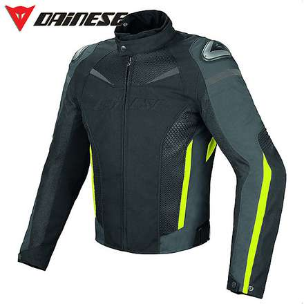 Super Speed D-Dry jacket black-gray-yellow fluo Dainese
