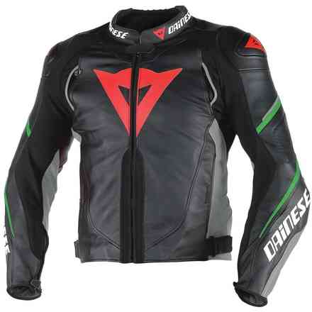 Super Speed D1 Perforated jacket black anthracyte green fluo Dainese