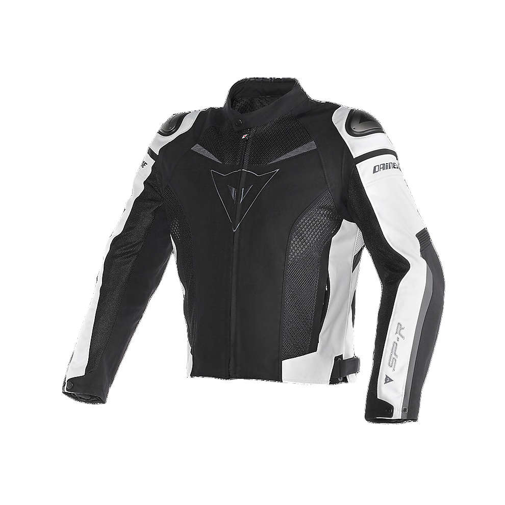 Super Speed Tex Jacket black-white Dainese