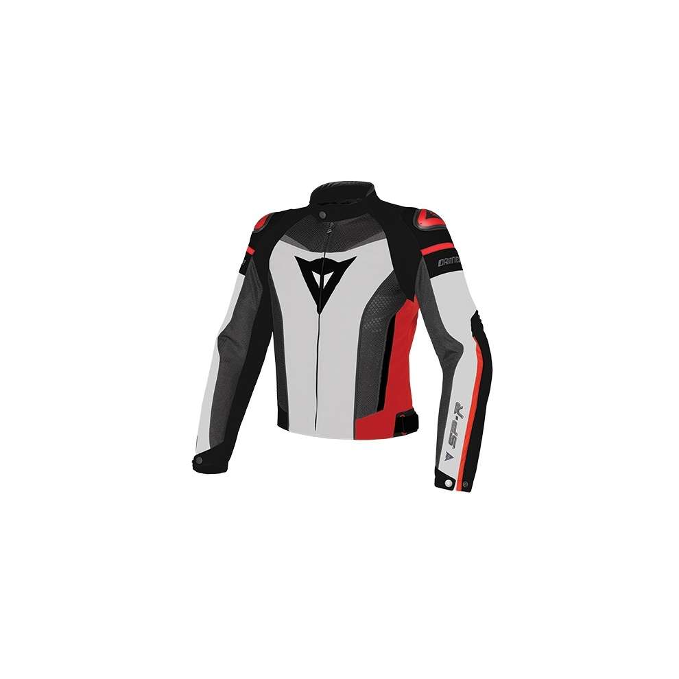 Super Speed Tex Jacket White-Black-Red Dainese