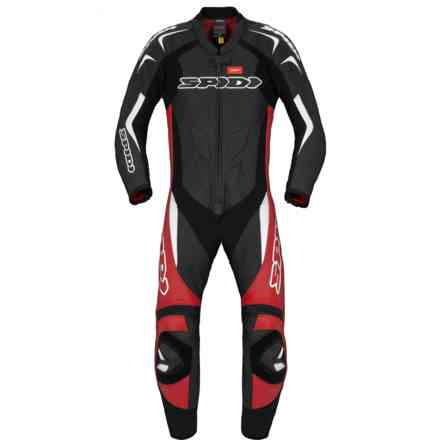 Supersport Wind Pro leather suit black red white Spidi