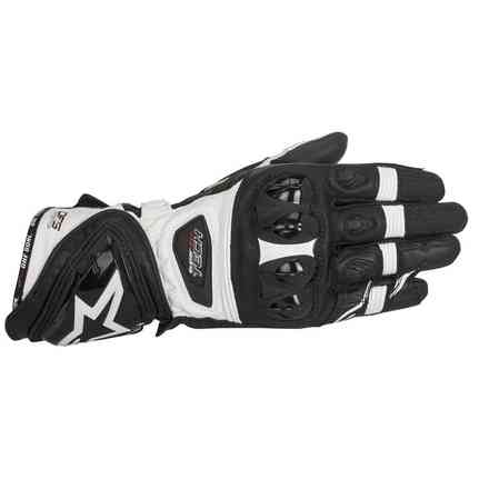 Supertech  black white Gloves  Alpinestars
