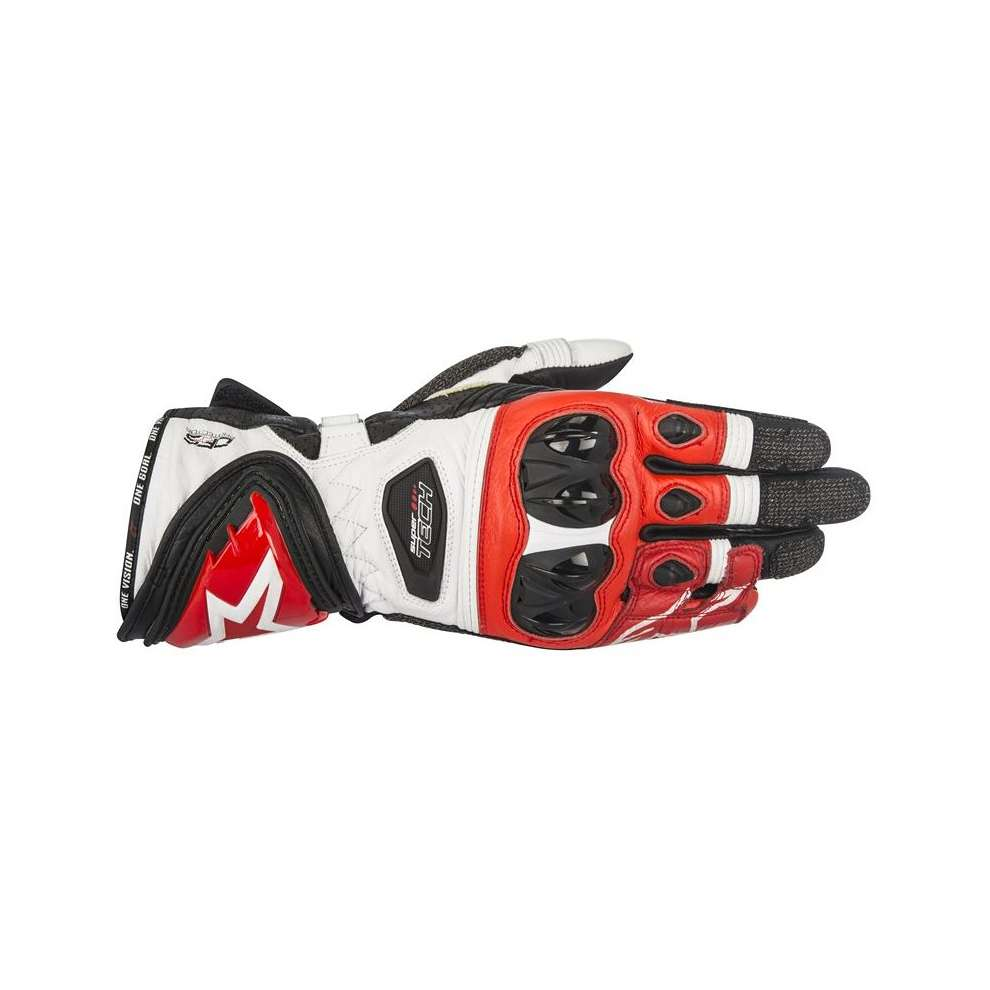Supertech  black white red Gloves  Alpinestars