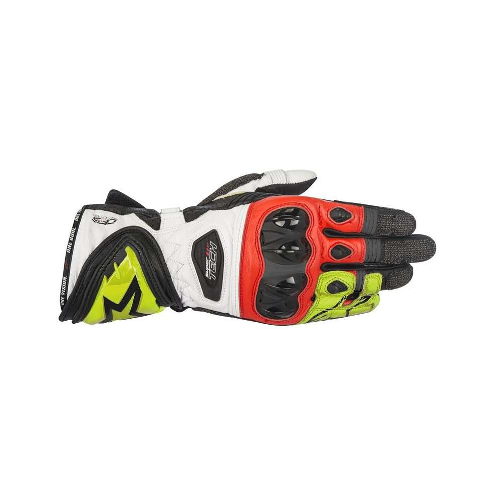 Supertech  black yellow  red Gloves  Alpinestars
