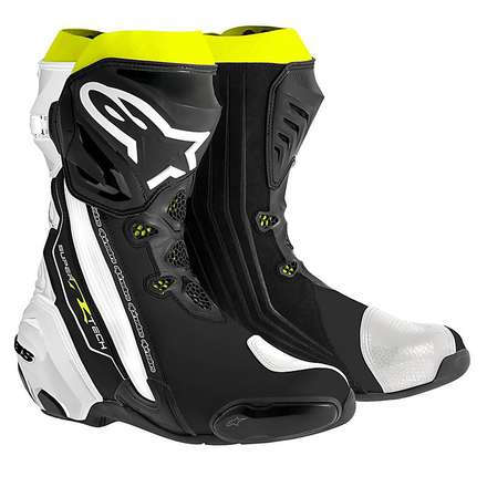 Supertech R Boots black-white-yellow fluo Alpinestars