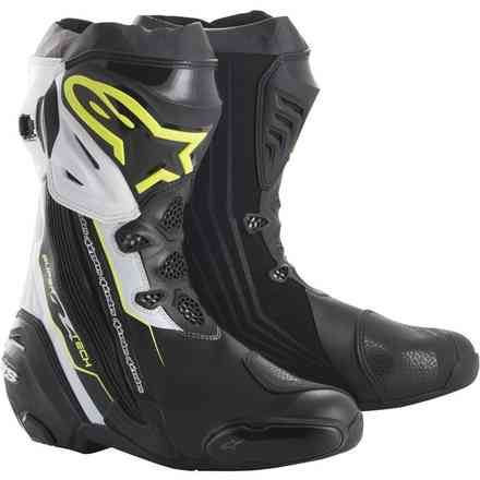 Supertech R boots black yellow fluo white Alpinestars