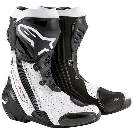 Supertech R  Boots vented black-white Alpinestars