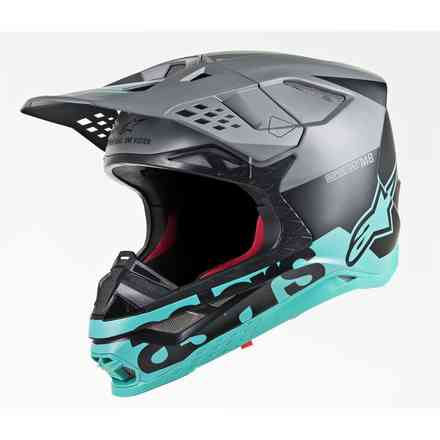 Supertech S-M8 Radium helmet matt black mid grey Alpinestars