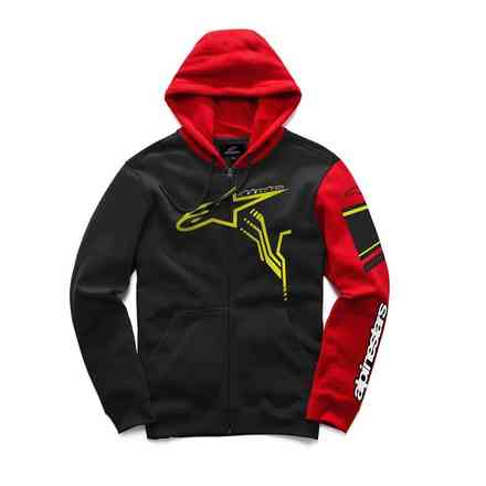 Sweatshirt Gp Plus Fleece Schwarz Rot Alpinestars