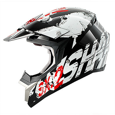 SX 2 Freak Black / White / Red Helmet Shark