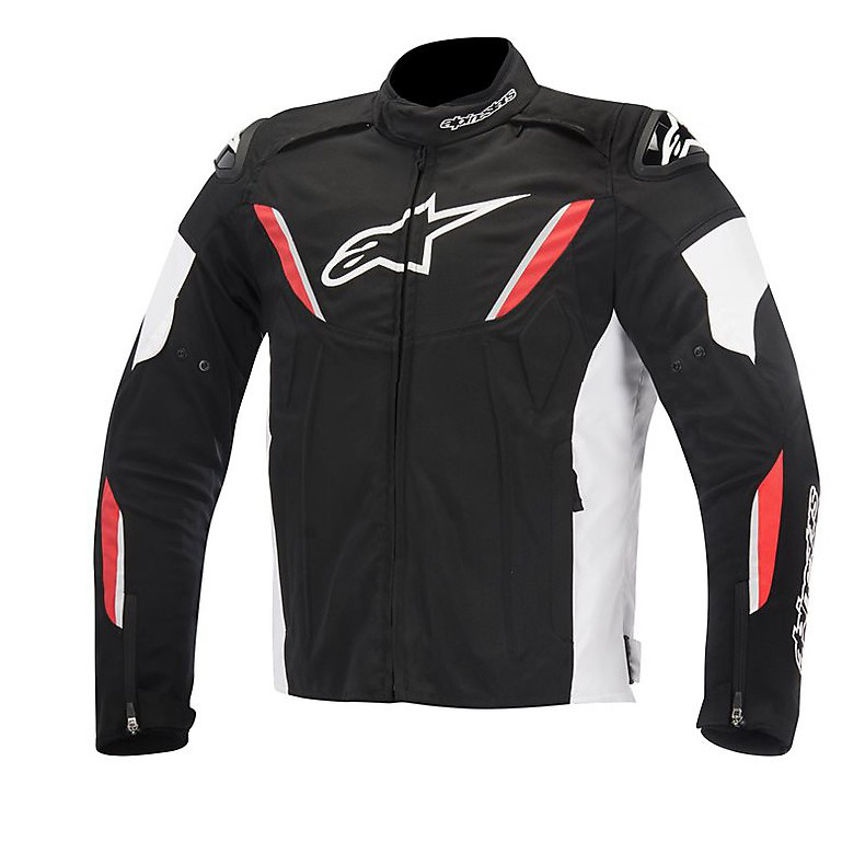 T-gp R Waterproof Jacket black-white-red Alpinestars