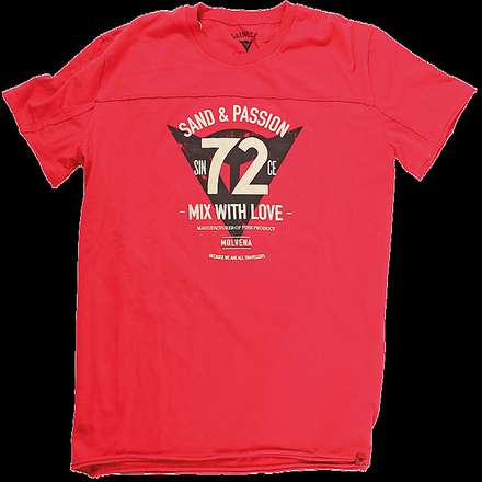 T-shirt 72&Passion rosso Dainese