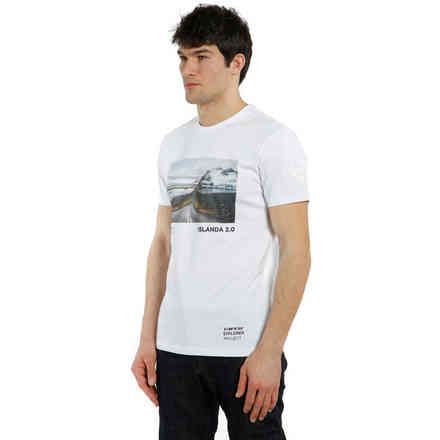 T-shirt Adventure Dream Bianco/Nero Dainese