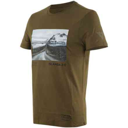 T-shirt Adventure Dream Military/Olive/Black Dainese