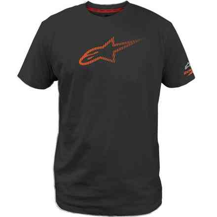 T-Shirt Ageless Tech nero arancio Alpinestars