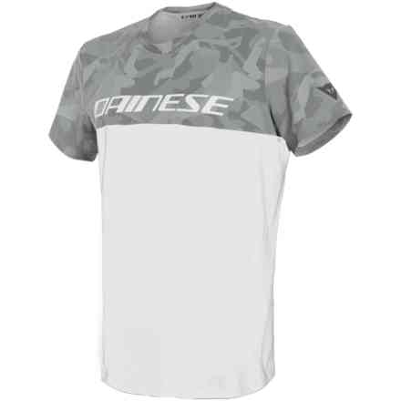 T-shirt Camo-Tracks bianco antracite Dainese