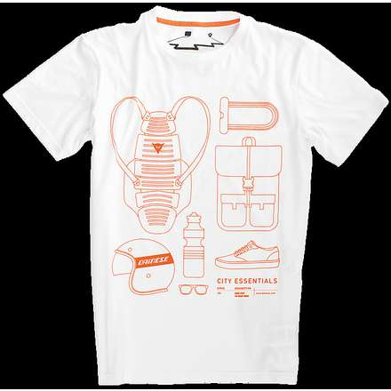 T-shirt  City Pack bianco Dainese