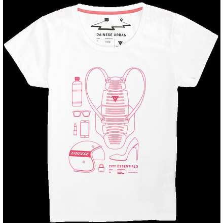 T-shirt  City Pack Lady bianco Dainese